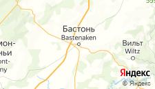 Отели города Бастонь на карте
