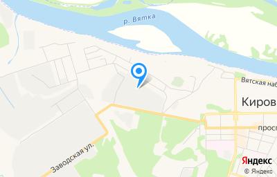 Местоположение на карте пункта техосмотра по адресу Кировская обл, г Кирово-Чепецк, ул Заводская, д 5 к 12