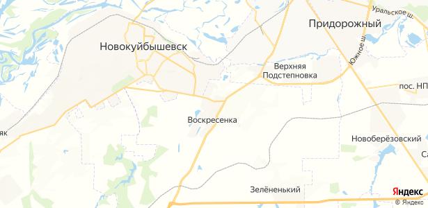 Воскресенка на карте