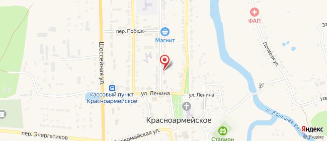 Карта расположения пункта доставки Красноармейское Мира в городе Красноармейское