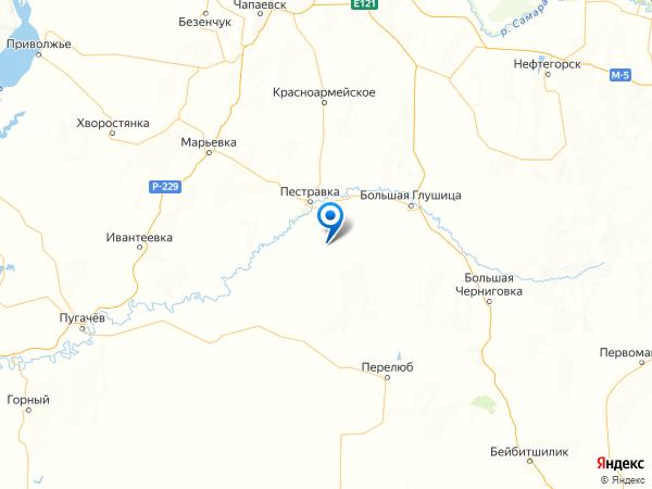 село Майское на карте