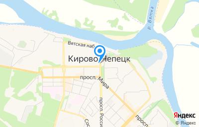 Местоположение на карте пункта техосмотра по адресу Кировская обл, г Кирово-Чепецк, проезд Базовый, д 7А