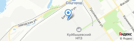 Эгида на карте Самары