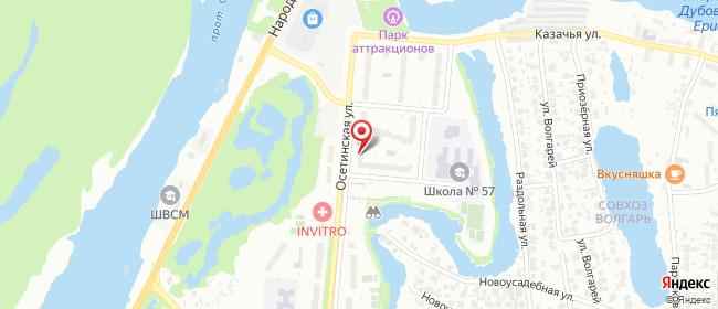 Карта расположения пункта доставки ЖК Волгарь в городе Самара