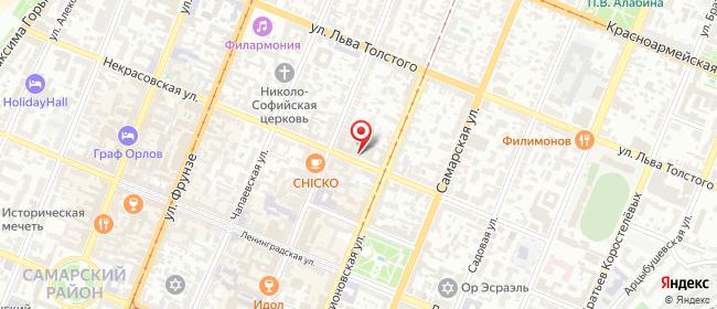 Карта расположения пункта доставки Самара Некрасовская в городе Самара