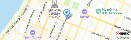 Этюд на карте Самары