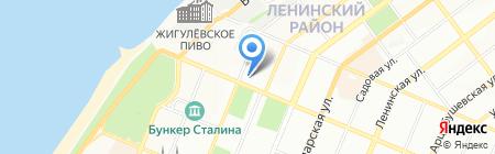 География на карте Самары