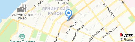 Этуаль на карте Самары