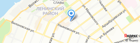 Магазин на Самарской на карте Самары