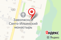 Схема проезда до компании Заволжский Свято-Ильинский женский монастырь в Подгорах