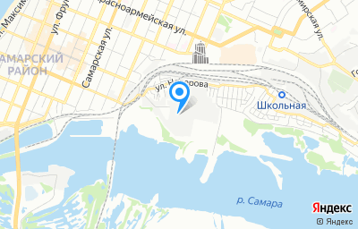 Местоположение на карте пункта техосмотра по адресу г Самара, ул Набережная реки Самары, д 1