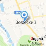 Метр квадратный на карте Волжского