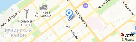 Бригантина на карте Самары