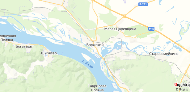 Волжский на карте