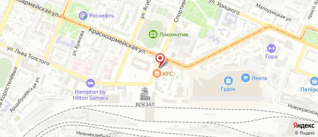 Карта расположения пункта доставки Самара Спортивная в городе Самара