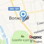 Киоск фастфудной продукции на карте Волжского