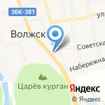 Горилка на карте Волжского
