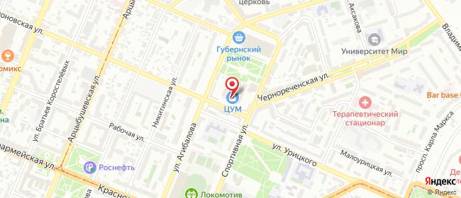 Карта расположения пункта доставки Самара Вилоновская в городе Самара
