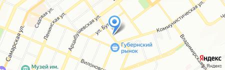 Живые раки на карте Самары