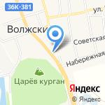 Маяк на карте Волжского