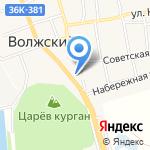 Магазин автозапчастей на карте Волжского