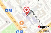 Схема проезда до компании ДЖИПРОМ в Комсомольском