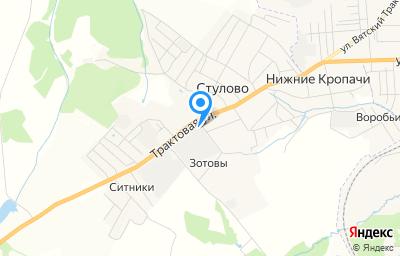 Местоположение на карте пункта техосмотра по адресу Кировская обл, Слободской р-н, д Стулово, ул Трактовая, д 58