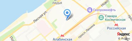 Средняя общеобразовательная школа №16 на карте Самары