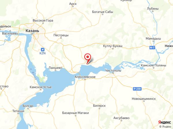 поселок городского типа Рыбная Слобода на карте