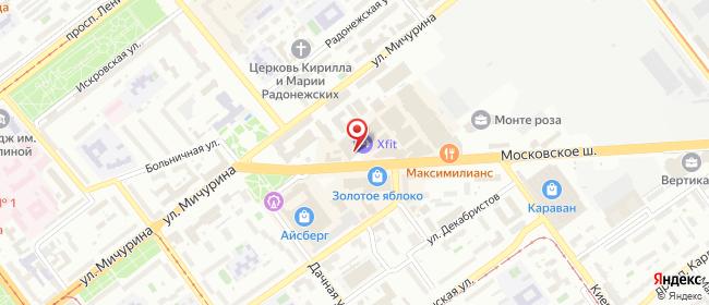 Карта расположения пункта доставки Самара Московское в городе Самара