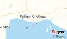 Гостиницы города Рыбная Слобода на карте