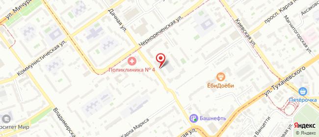 Карта расположения пункта доставки Самара Дачная в городе Самара