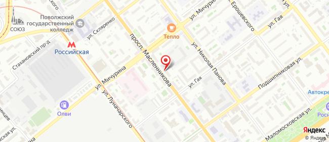 Карта расположения пункта доставки Lamoda/Pick-up в городе Самара