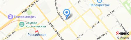 Оттиск на карте Самары
