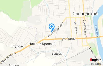 Местоположение на карте пункта техосмотра по адресу Кировская обл, г Слободской, ул Вятский тракт, зд 21