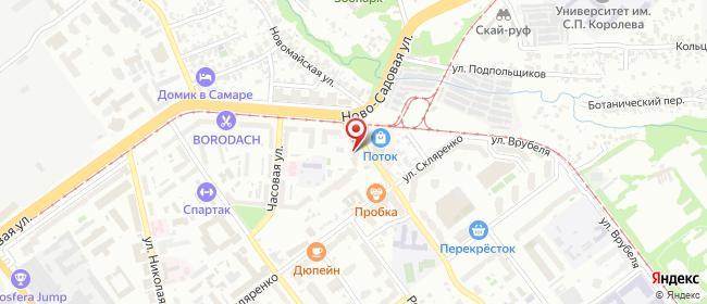 Карта расположения пункта доставки Овраг Подпольщиков в городе Самара