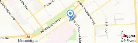 Гаражно-строительный кооператив №606 на карте Самары
