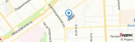 Фабрика Отрада на карте Самары