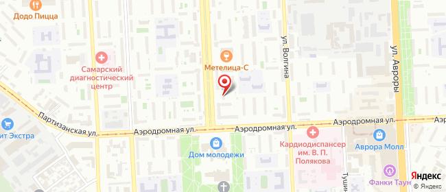 Карта расположения пункта доставки Дом Молодежи в городе Самара