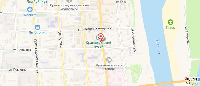 Карта расположения пункта доставки Ростелеком в городе Слободской
