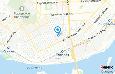 Местоположение на карте пункта техосмотра по адресу г Самара, ул Промышленности, д 64