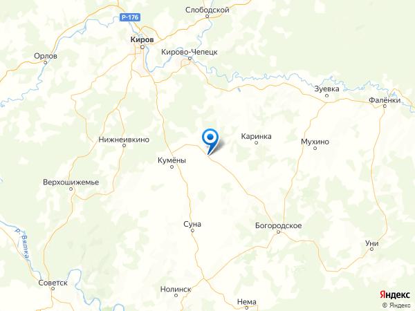 село Вожгалы на карте