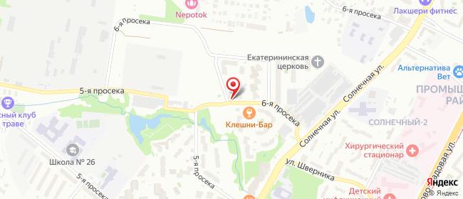Карта расположения пункта доставки Пункт выдачи интернет- заказов в городе Самара