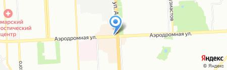 Каскад на карте Самары