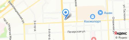 Расходка на карте Самары