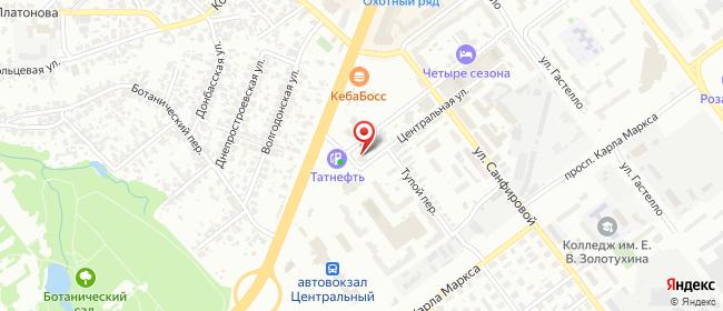 Карта расположения пункта доставки Самара Центральная в городе Самара