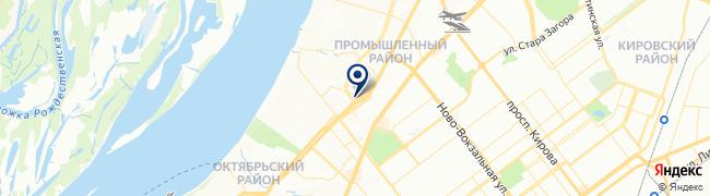 Расположение клиники Медицина на ул. Ново-Садовой, 180 а