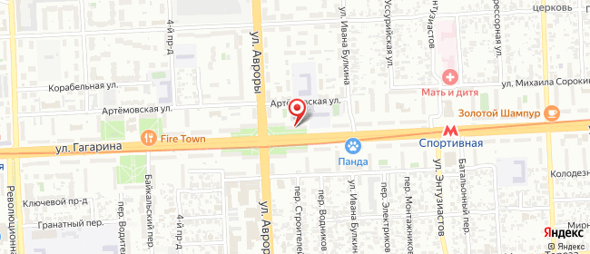 Карта расположения пункта доставки Самара Гагарина в городе Самара