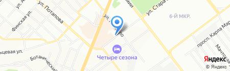 Волга на карте Самары