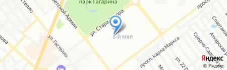 Элкона на карте Самары